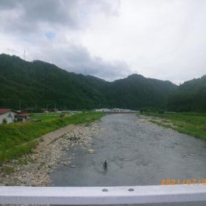 益田川上流 いい感じかも 7月3日夕方釣行