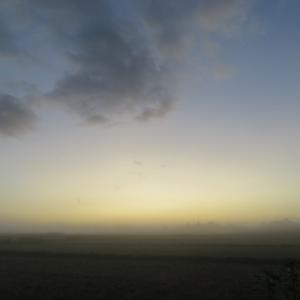 霧の夜明け~☀