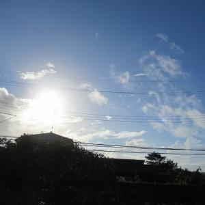 めまぐるしく変わる空模様~🎶
