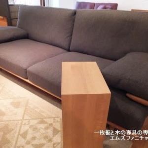 644、【周年祭開催中】飛騨高山日進木工SOFソファー。美しい木枠フレームと快適な座り心地。一枚板と木の家具の専門店エムズファニチャーです