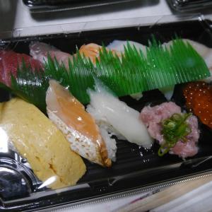 スシローさんから お寿司をテイクアウトしました