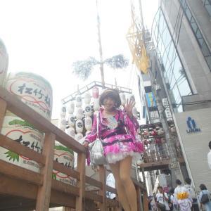 フルメイクで花柄で夏の京都といえば祇園祭…!?