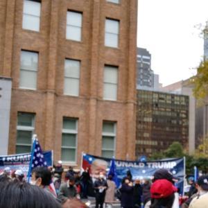トランプ大統領応援デモ・東京