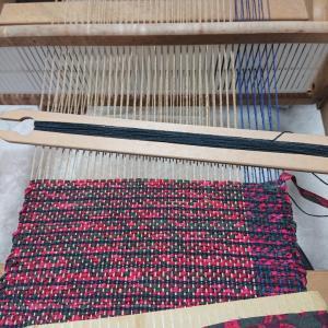 裂き織りサンプル作り