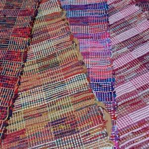 裂き織り×網代織り