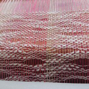 編み物用糸を織ってみる