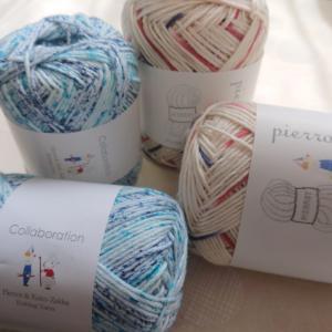 編み物用糸を織る