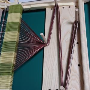 祝❗自分の機織り機で初使い