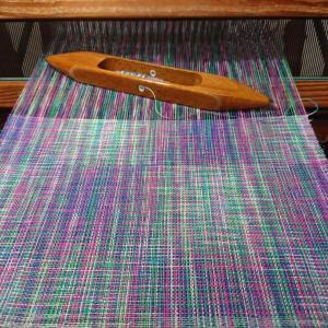 編み物糸で試し織りのシアワセ