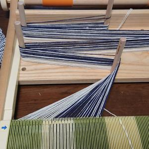 平織り格子見本  くずし織り