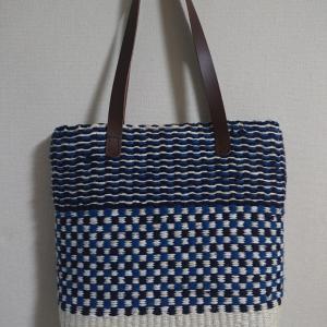 Jute(黄麻)&裂き織り 夏用マイバッグ