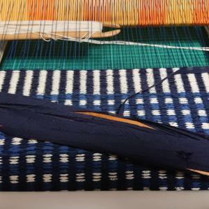 夏用バッグ生地、麻&裂き織り 3個目
