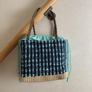 手織り教室 ジュート&裂き織り 籠バッグ