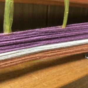 久々の整経 細い綿糸で