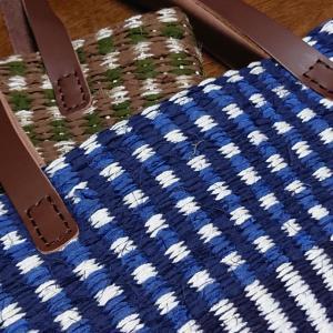 裂き織り×ジュートのトートバッグ