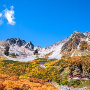 涸沢・9月下旬|モルゲンロートと秋晴れの紅葉に酔いしれる