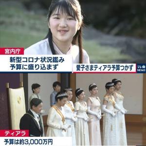【悲報】愛子さま、予算つかず女性皇族で唯一ティアラ(3000万円)なし
