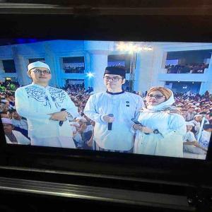 インドネシア全国中継のテレビに出ちゃいました