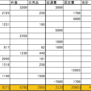 2020年6月の家計簿(支出は41,879円、配当金は143.47ドル)