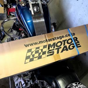 MOTORSTAGE モーターステージ エキゾーストヘッドパイプ 2in2左右独立エキパイの取付け 土曜日編(^^)b
