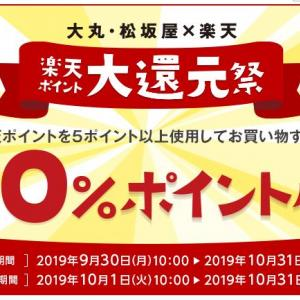 【楽天ポイント】大丸・松坂屋で20%還元のキャンペーン実施中 期間限定ポイントを使って通常ポイントを入手可能です