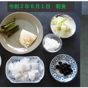 山本84歳・食事療法の記録・令和2年6月1日の食事