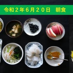 山本84歳・食事療法の記録・令和2年6月20日の食事