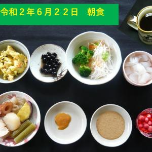 山本84歳・食事療法の記録・令和2年6月22日の食事