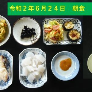 山本84歳・食事療法の記録・令和2年6月24日の食事