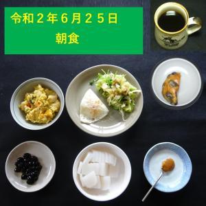 山本84歳・食事療法の記録・令和2年6月25日の食事