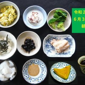 山本84歳・食事療法の記録・令和2年6月30日の食事