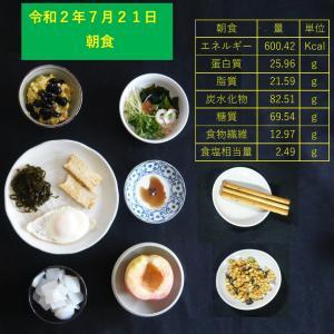 山本84歳・食事療法の記録・令和2年7月21日の食事