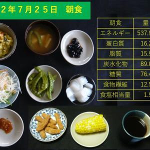 山本84歳・食事療法の記録・令和2年7月25日の食事