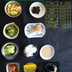 山本84歳・食事療法の記録・令和2年7月30日の食事
