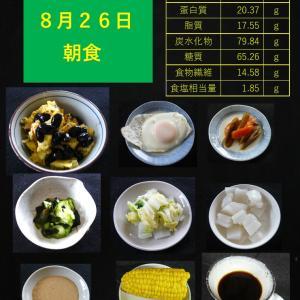 山本84歳・食事療法の記録・令和2年8月26日の食事