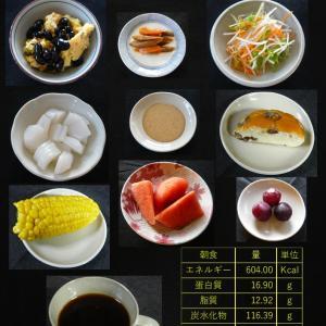 山本84歳・食事療法の記録・令和2年8月27日の食事