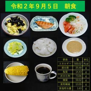 山本84歳・食事療法の記録・令和2年9月5日の食事