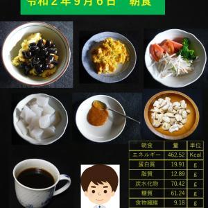 山本84歳・食事療法の記録・令和2年9月6日の食事
