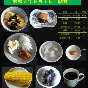 山本84歳・食事療法の記録・令和2年9月7日の食事