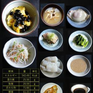 山本84歳・食事療法の記録・令和2年9月28日の食事