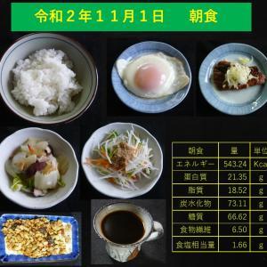 山本84歳・食事療法の記録・令和2年11月1日の食事
