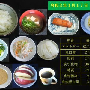 山本84歳・食事療法の記録・令和3年1月17日の食事