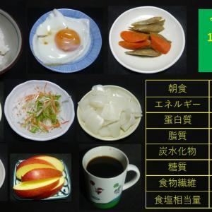 山本84歳・食事療法の記録・令和3年1月22日の食事