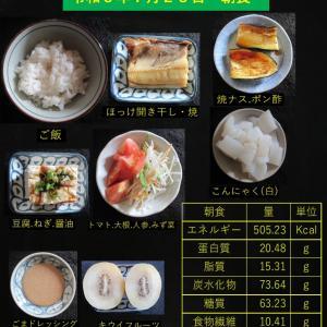 山本85歳・食事療法の記録・令和3年7月23日の食事