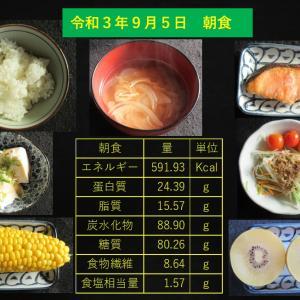 山本85歳・食事療法の記録・令和3年9月5日の食事