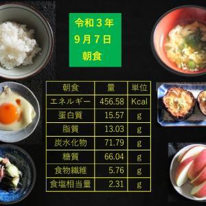 山本85歳・食事療法の記録・令和3年9月7日の食事