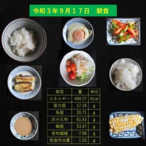 山本85歳・食事療法の記録・令和3年9月17日の食事