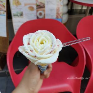 【新潟市中央区万代 カフェイタリア】バラ盛り!体にやさしいこだわり食材のジェラート