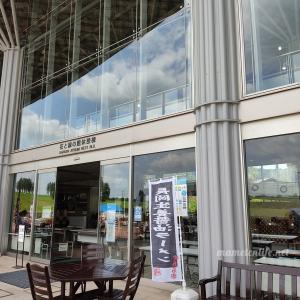 【長岡丘陵公園 花と緑の館売店】青バラソフトクリームがある売店