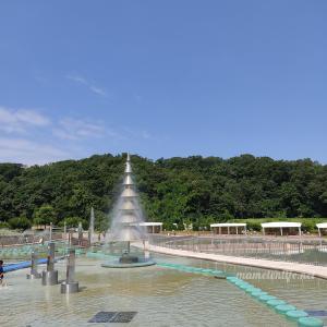 【長岡丘陵公園】2021年水遊び広場に行ってきた!レジャーシートをお忘れなく